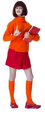 Scooby-Doo Velma Dinkley Costume Women's Adult Dress Cartoon Mystery Solvers Std - Adult Velma Costume