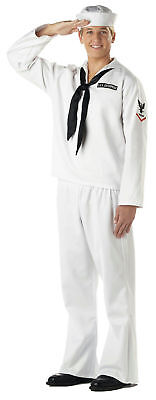 White Seaman Adult Navy Military Costume X-Large