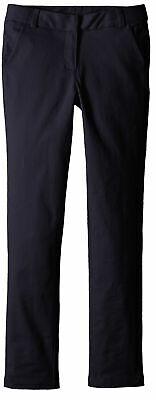 Nautica Girls' School Uniform Skinny Fit Stretch Twill Pant - Navy - Size 8R