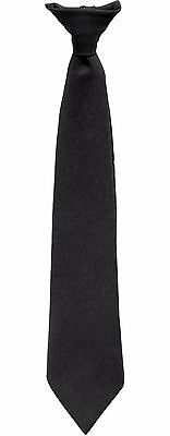 "Rothco 20"" Police Issue Clip-On Necktie Black Security Officer Clip Tie 30084"
