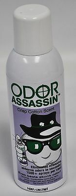 Odor Assassin Odor Eliminator Crisp Cotton Scent  8 OZ