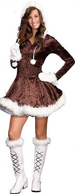 Eskimo Cutie Pie Jr. Teen Costume Dream Girl 6041 Brown Dress Winter Halloween](Eskimo Halloween Costume Girl)