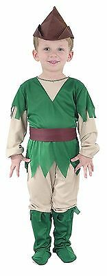 ROBIN HOOD TODDLER BOYS MEDIEVAL FANCY DRESS WORLD BOOK DAY PARTY COSTUME 2-4 - Robin Hood Toddler Costume