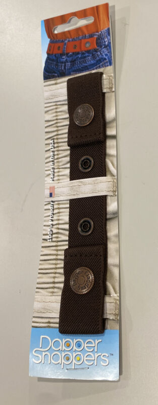 Kids DAPPER SNAPPER Adjustable Toddler Belt Little Belts With Snaps Dark Brown