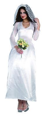 Ladies Kate Wedding Fancy Dress Costume Bride Hen Outfit UK 10-14
