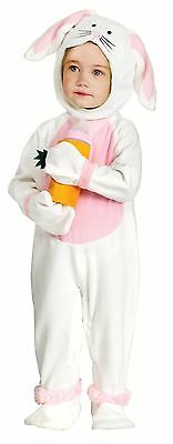 Bunny Rabbit Costume Plush Infant Toddler Childs Baby Kids White 6-12 12-24M NEW](Infant White Rabbit Costume)