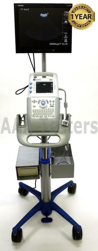 SonoSite 180 Plus Portable Ultrasound System w/ Cart Printer & Monitor C15E