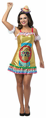 ADULT TEQUILA CINCO DE MAYO FESTIVAL ALCOHOL DRINKING PARTY COSTUME DRESS GC7598