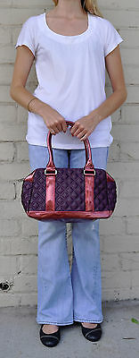 Quilted Bowler (MARC JACOBS Quilted Satin Bowler Bag Speedy DK Purple)