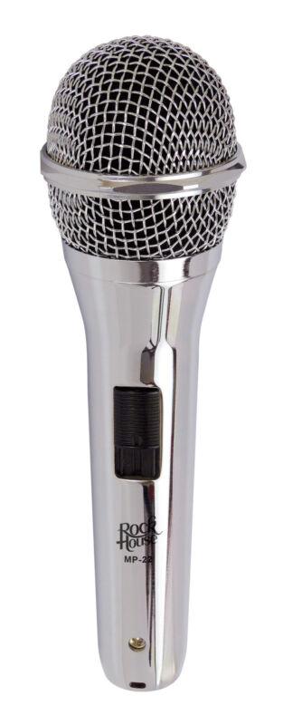 "ROCKHOUSE Microphone "" SEMI-PROFESSIONAL "" Chrome MP-22 Micro"