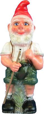 Gartenfigur Zwerg Seppel groß ca 50 cm PVC Gartenzwerge Dekoration Neu OVP