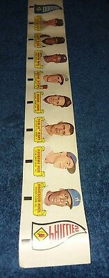 RARE 20 CARD UNCUT STRIP 1966 TOPPS RUB-OFFS PETE ROSE YAZ WILLIE MAYS ROBINSON