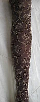 Beige Opaque Strümpfe (Collant GOLDEN LADY Opaque Marron motifs Beige doré  Taille 1/2  36/38)