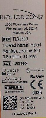 Biohorizons Dental Implants 3.8 X 9.0 Mm 3.5 Platform Tlx3809