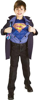 CLARK KENT SUPERMAN REVERSE CHILD COSTUME Kids Cute Jacket Superhero Theme Party