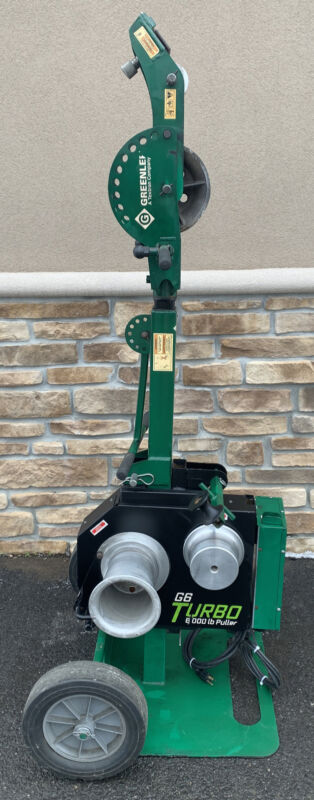 Greenlee G6 Turbo 6000LB Cable Puller Super Tugger   6500LB Max **AWESOME**