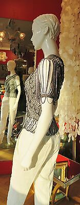 Loris azzaro vintage top lurex chaines 1970 excellent etat
