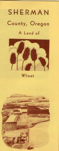 1959 Sherman County Oregon Brochure, Land of Wheat, Building John Day Dam