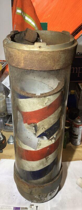 Antique Electric Wall Mount Barber Shop Pole True Vintage WORKS