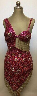 Karneval Kostüm Damen Südamerika reich bestickt mit Perlborten Franse Gr. (Bestickte Damen Kostüm)