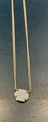Kendra Scott Rose gold pendant necklace with Iridescent Drusy