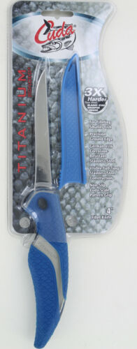 "New Cuda Titanium Bonded 4"" Fillet Knife"
