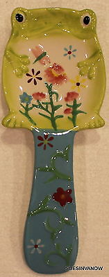 Spoon Rest Floral Frog Ceramic Hand Painted Boston Warehouse Styish and Pratical