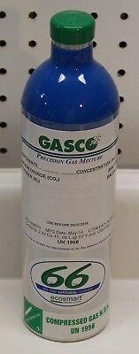 Gasco 16m670 Carbon Dioxide Nitrogen Calibration Gas 66l Cylinder Capacity