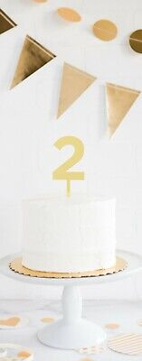 Gold Acrylic Number Cake Toppers, Birthday Candle/Cake Toppers, 0-9 Available