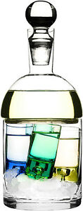 Sagaform Schnapps Glass Carafe And Ice Container With 4 Shot Glasses - 5015855