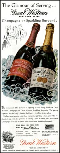 1956 Great Western wine champagne New York state vintage photo Print Ad  adL2