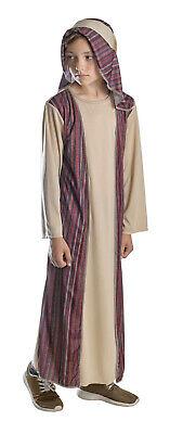 Joseph Shepherd Boys Xmas Christmas Nativity Play Robe Fancy Dress Costume 4-12
