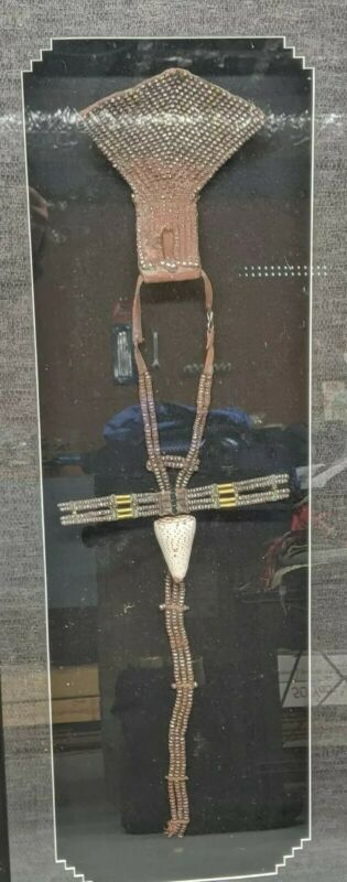 Himba Necklace lead beaded Namibia woman