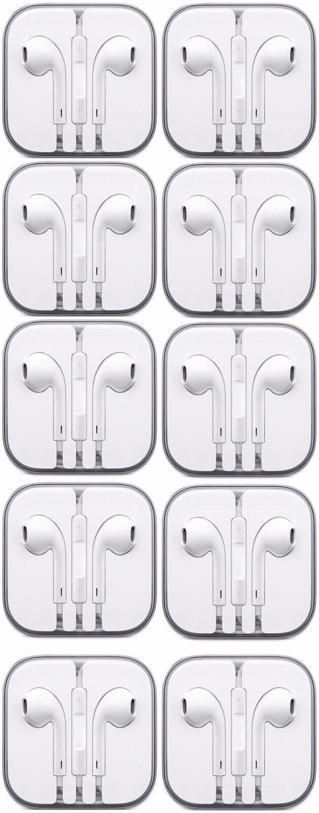 Lot of 10 Earbuds Earphone Headset With Mic For Apple iPhone