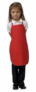 Daystar-Aprons-1-Style-250-Childrens-Two-pocket-kids-bib-apron-Made-in-USA