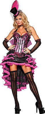 Sexy Adult Halloween InCharacter Deluxe Burlesque Beauty Cabaret Dancer Costume (Burlesque Beauty Kostüm)