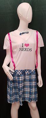 Kostüm College Girl - i love nerds weiblich von Widmann Größe - Kostüm Nerd Girls