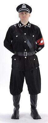 German Army Soldier World War 2 Mens Black - Army Fancy Dress