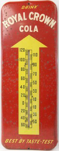 Vintage 1953 Drink Royal Crown Cola Best By Taste Test Metal Thermometer