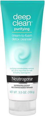 - Neutrogena Deep Clean Facial Cleanser, Pore Cleansing Face Wash 3.5 oz