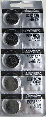 5 pcs Energizer CR1620 ECR1620 CR 1620 3v Battery