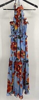 MISA Los Angeles Halter Tie Floral Sundress Women's Size X-Small