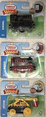Thomas & Friends Diesel Railway Engines and Railway Car Lot Real Wood