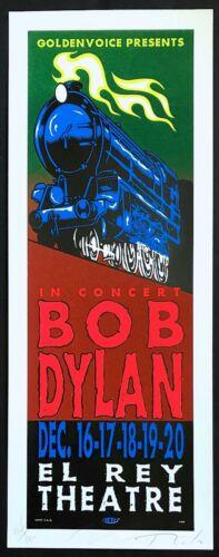 MINT & SIGNED Bob Dylan El Rey Theater Los Angeles 1997 TAZ Poster 34/400