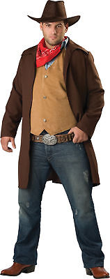 Rawhide Renegade Adult Plus Mens Costume Cowboy Duster Western Outlaw Ranger