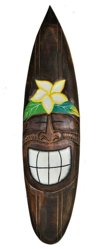 Deko Surfboard 100cm TIKI Surfbrett Lounge Fiji Südsee Hawaii