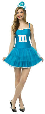 M&M Blue Adult Women's Costume Party Fancy Dress With Bodice Rasta Imposta - Adult M&m Costume
