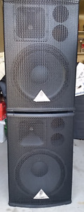 Behringer B1520 PRO  2-Way Passive PA Speaker.  pair