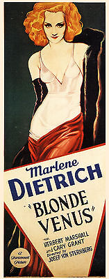 Blonde Venus (1932) Marlene Dietrich Cary Grant movie poster print on Rummage