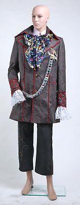 Alice in Wonderland Johnny Depp Mad Hatter Uniform Costume Cosplay Halloween - Halloween Costumes Johnny Depp